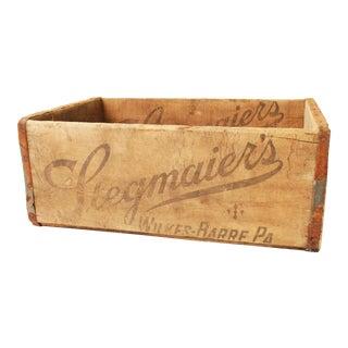 Vintage Rustic Stegmaier's Brewery Wood Crate