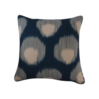 Peter Dunham Textiles Outdoor Bukhara Blue Pillow