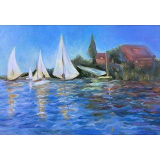 "Janna Phillips ""Sailing"" Oil Painting"