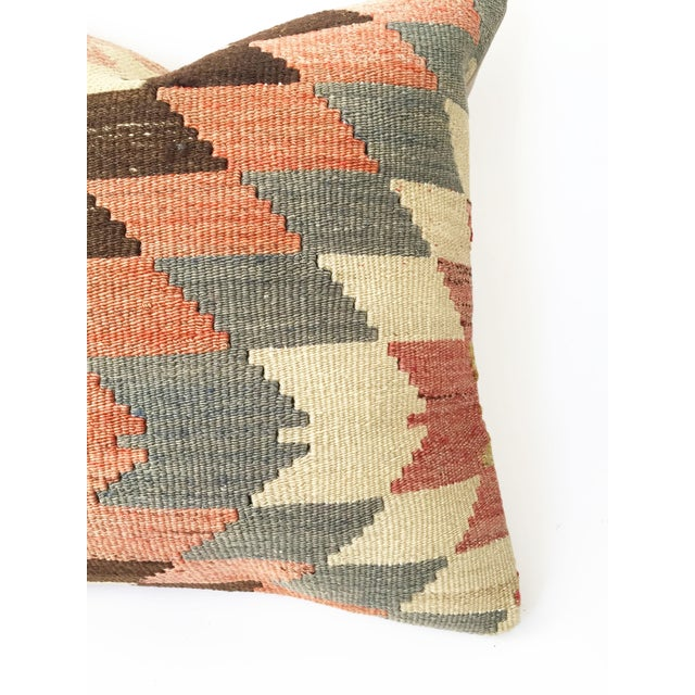 Vintage Kilim Square Pillowcase - Image 4 of 5