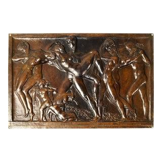 Bronze Plaque by C.w. Dyson-smith, England, Circa 1930