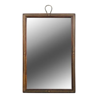 Brass Inlaid Traveling Mirror