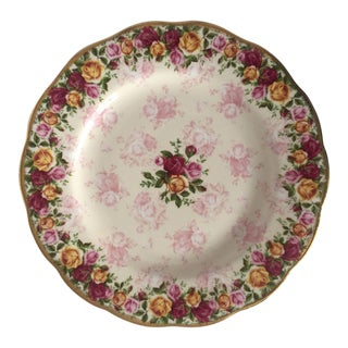 Royal Albert Rose Pattern English Bone China Plate