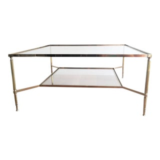 1940's Maison Jansen Brass Coffee Table