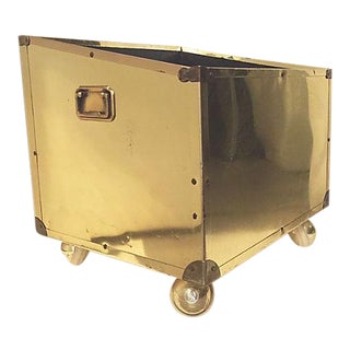 Large Brass Planter on Casters