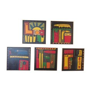 Five Original Oil Paintings by Disrud