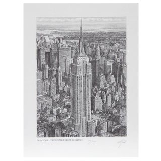 Walter Tjart NY The Empire State Building Etching