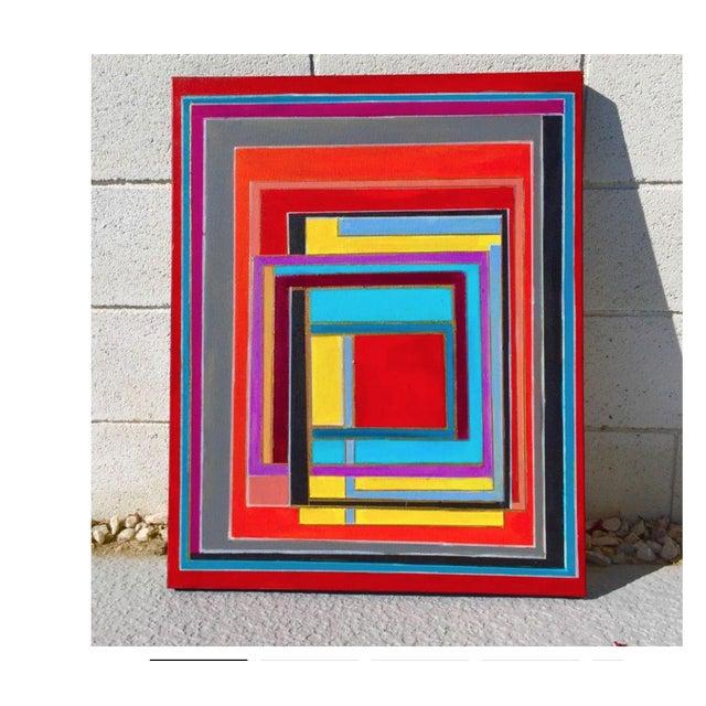 Bryan Boomershine Modern Block Graphic Painting - Image 3 of 5