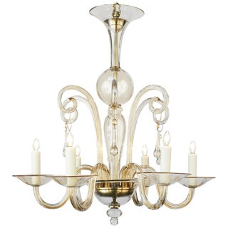 Mid-Century Handblown Murano Glass Chandelier