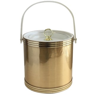 Vintage Gold & Lucite Ice Bucket
