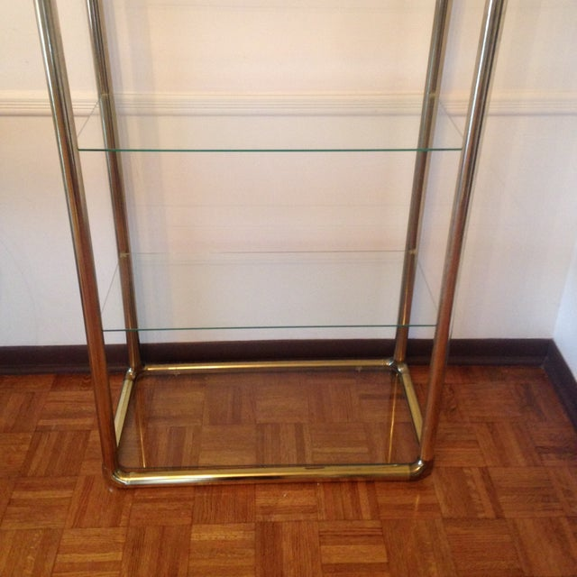 Brass Etagere in the Manner of John Widdicomb - Image 5 of 9