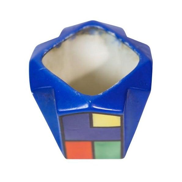 Art Deco Cubist Color Block Vase - Image 2 of 4
