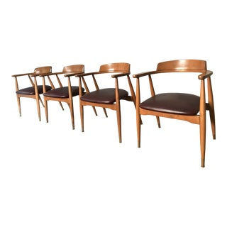 Mid-Century Wagner Style Dining Chairs - Set of 4