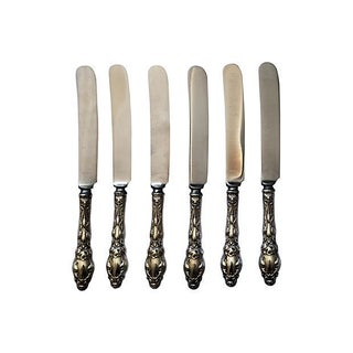 Gorham Antique Sterling Silver Knives - Set of 6
