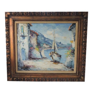 """Capri"" by G. Camprio, Oil on Canvas"