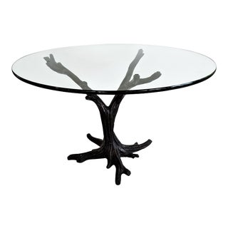 J. A. Mercie French Bronze Tree Sculpture Table