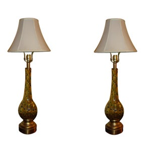 Multicolored Murano Glass Table Lamps- A Pair