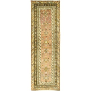 "Vintage Turkish Oushak Runner Rug - 3'2"" X 9'6"""
