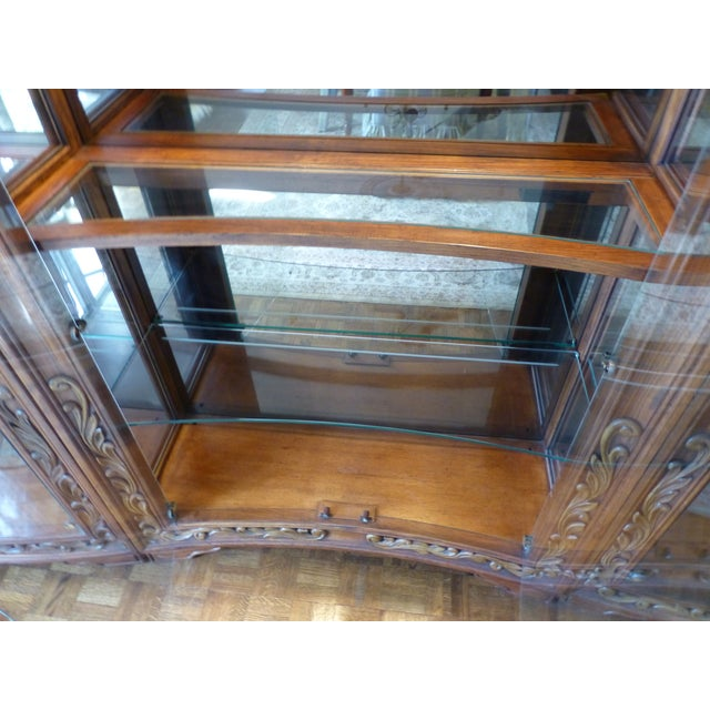 Image of Henredon Alfresco Collection Concave Display Cabinet