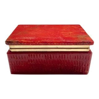 Italian Red Marble Box