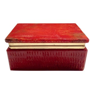 Italian Red Marble Box