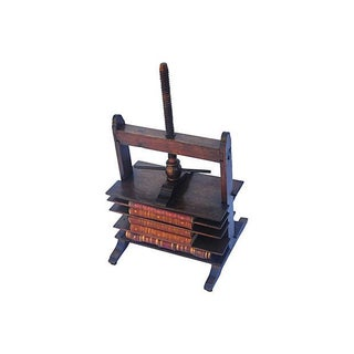Antique Bookpress With Books