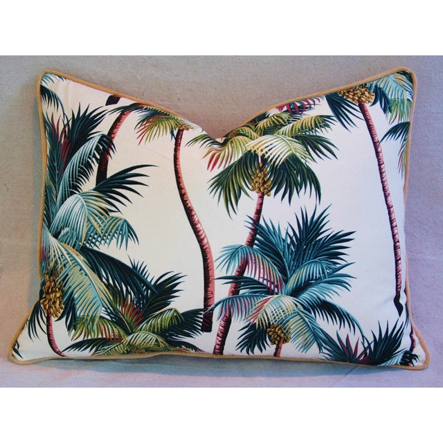 Image of Designer Tropical Coconut Palm Tree Pillows - Pair