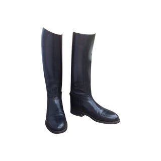 Vintage Boot Lasts Leather Riding Boots - Pair