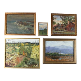 Scenic Gallery Wall Art Paintings - Set of 5