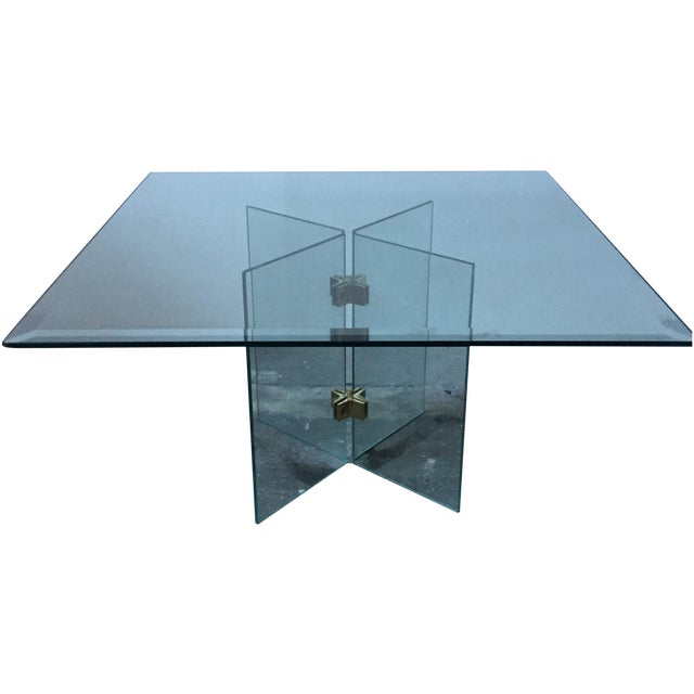 Leon Rosen Pace Collection Glass Coffee Table - Image 1 of 10