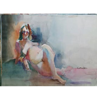 Vintage Rich Buchwald Watercolor Nude Painting