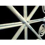 Image of Vintage Bamboo Peacock Scroll Swinging Doors