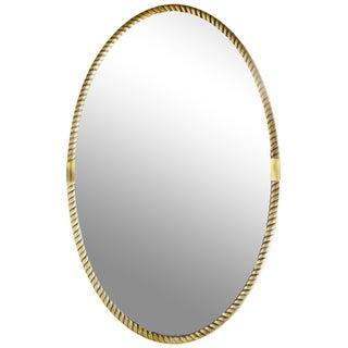 Vintage Italian Rope Oval Mirror