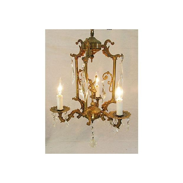 1950s Crystal 3 Arm Chandelier - Image 2 of 8