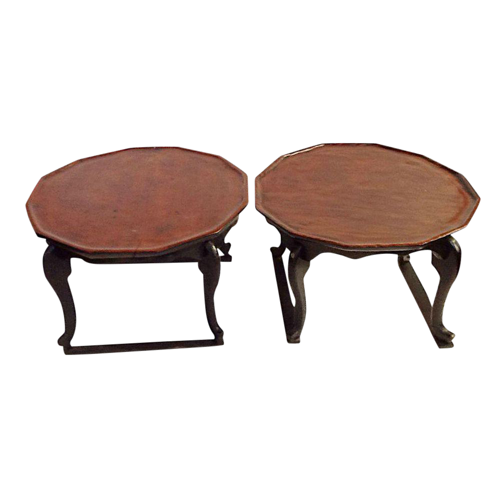 Antique Chinese Chow Tables   A Pair