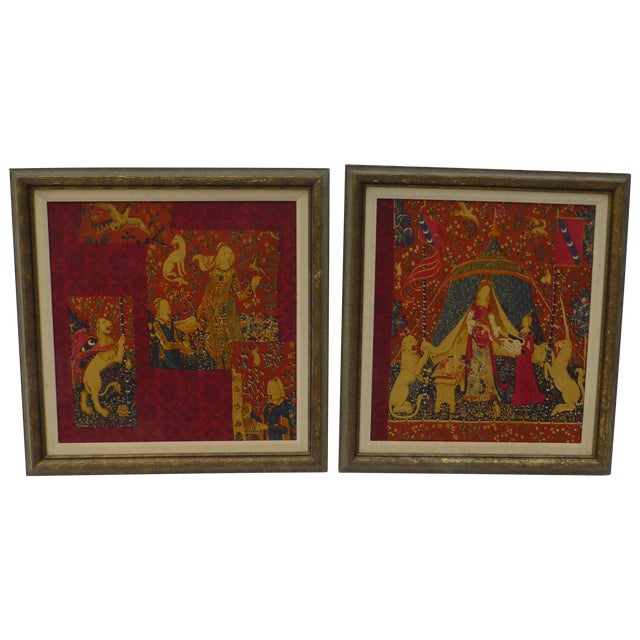Image of English Country Framed Tapestry - Pair