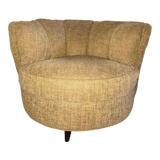 Vintage Swivel Barrel Back Chair