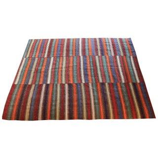 Vintage Turkish Flatweave Rug - 6′8″ × 8′5″