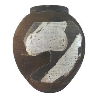 Raku Style Rustic Barrel Vase
