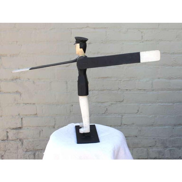 Image of All Original Early Hand-Carved Policeman Whirligig