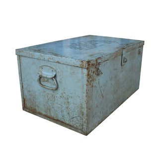Grey Metal Trunk