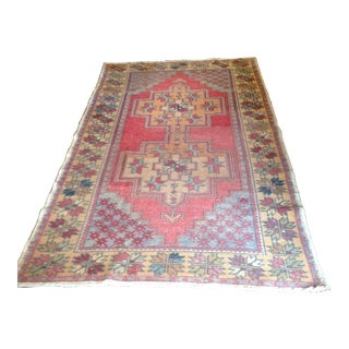 "Vintage Turkish Rug - 4'10"" x 8'9"""