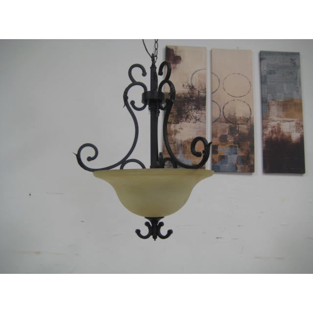 Oil Rubbed Bronze Dome Chandelier - Image 7 of 8