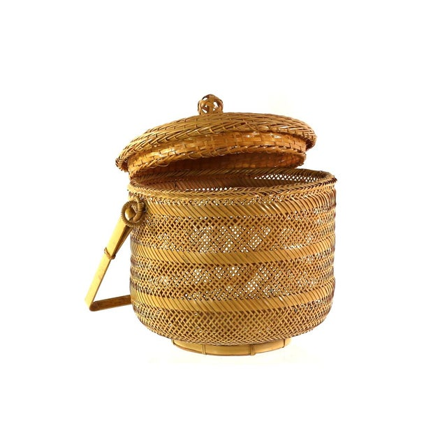 1930s Finely Woven Vintage Japanese Basket - Image 2 of 5