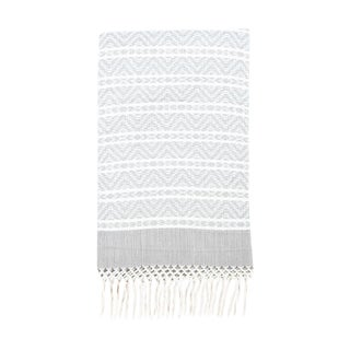 Chiapas Gray Handwoven Throw