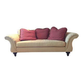 Calico Corners Custom Single Cushion Sofa & Pillows
