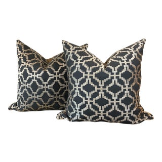 Embroidered Fabric Pillows - a Pair