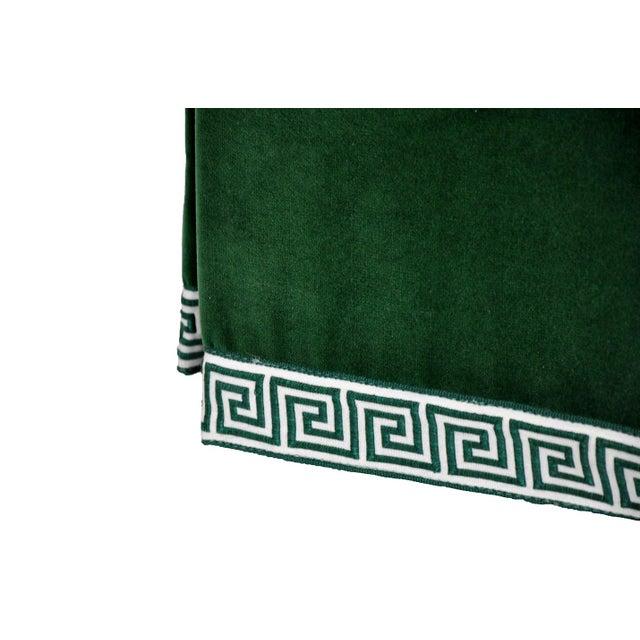 Century Emerald Velvet Tufted Bench - Image 4 of 4