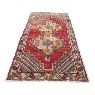 Antique Handwoven Turkish Oushak Floor Carpet - 4′3″ × 8′6″