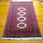 Image of Bokhara Persian Wool Rug - 3′2″ × 5′8″